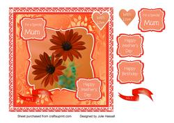 Mother's Day/ Birthday Card for Mum with Flowers