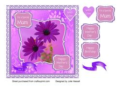 Mother's Day/birthday Floral Card for Mum