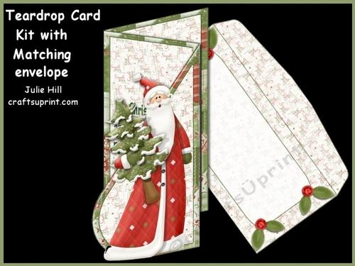 Christmas Simple Joys Teardrop Kit with Matching Envelope