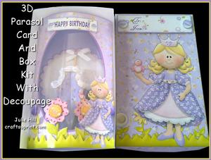 Fairytale Dreams 3D Parasol Pillow Card Kit