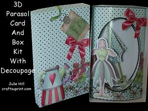 Garden Angel 3D Parasol Pillow Card Kit