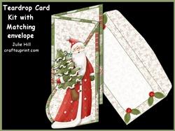 Christmas Simple Joys Teardrop Kit with Matching Envelope