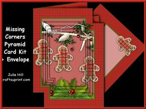 Missing Corners Christmas Gingerbread Holly Pyramid Kit