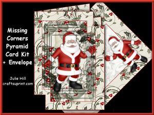 Missing Corners Christmas Holly and Santa Pyramid Kit