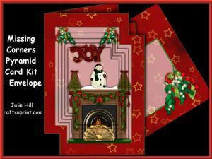 Missing Corners Christmas Joy Fireplace Pyramid Kit