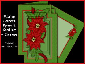 Missing Corners Christmas Poinsettia Pyramid Kit