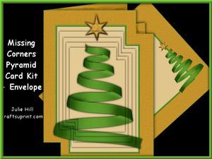 Missing Corners Christmas Ribbon Tree Pyramid Kit