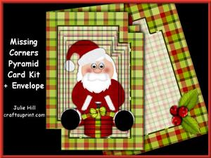 Missing Corners Santas Christmas Present Pyramid Kit