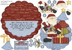 Over the Edge Rocker Christmas and Tree Decoupage Card