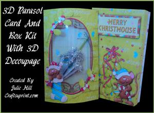 Merry Christ-mouse Parasol Pillow Card Kit