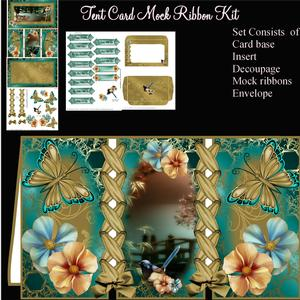 Tent Fold Mock Ribbon Oriental Bridge Card Kit