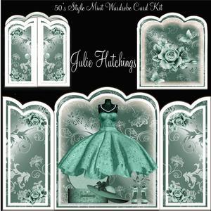 50's Style Mint Wardrobe Card Kit