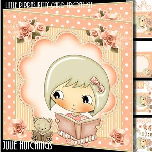 Little Pippa's Kitty Card Front Kit