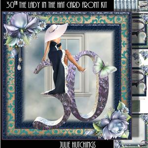 30th the Lady in the White Hat Card Front Kit
