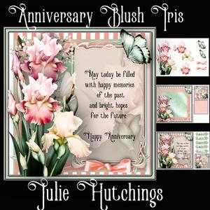 Anniversary Blush Iris Card Front Kit