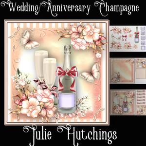 Wedding/anniversary Champagne Card Front Kit