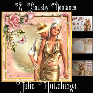 A Gatsby Romance Card Front Kit