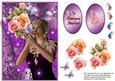 Butterfly Fairy in a Purple Swirl Frame