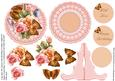 Peach and Pink Roses Plate Card