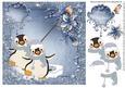 Ice Penguin Fun Card Topper