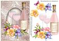 View Pink Champagne Wedding Anniversary Card Front Details