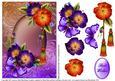 Purple Floral Card Front