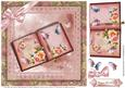 Pretty Book of Roses and Flutters 8x8 Topper
