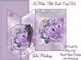 Beautiful Vintage Lilac Rose Mini Kit No Holes Fold