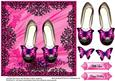Hot Pink Butterfly Shoes Topper