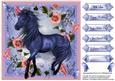 Fantasy Blue Beauty Among Petunias