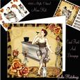 Cheers! 1950's Style Mini Kit Card Front and Decoupage