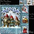 We Three Gnomes Card Front with Decoupage Kit
