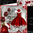 The Christmas Dress Window Card Front Kit