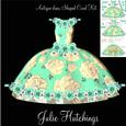 Beautiful Antique Dress Shaped Card