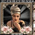 Deco Noir Pink Roses Card Front Kit