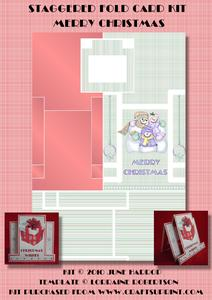 Staggered Fold Card Kit Merry Christmas