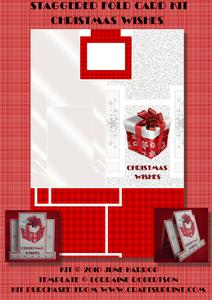 Staggered Fold Card Kit Christmas Wishes
