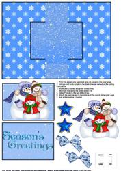 Snow Family Swing Card