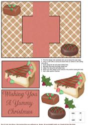 Yummy Chocolate Christmas Swing Card