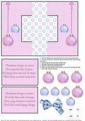 Christmas Baubles Swing Card