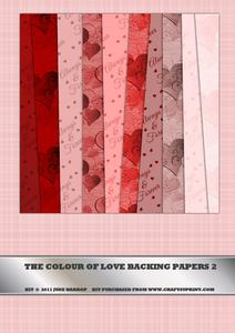 The Colour of Love Backing Papers 2