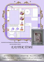 Easter Time Double Rounded Aperture Pillow Card