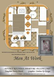 Men at Work Kit Double Rounded Aperture Pillow Card