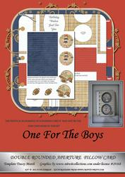 One for the Boys Kit Double Rounded Aperture Pillow Card