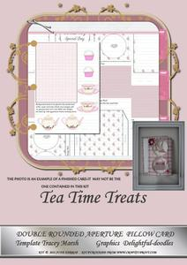 Tea Time Treats Double Rounded Aperture Pillow Card