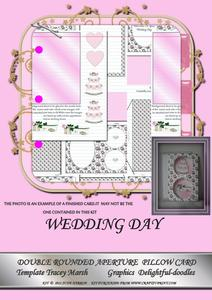 Wedding Day Double Rounded Aperture Pillow Card