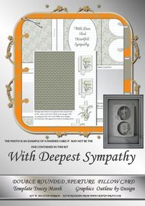 With Deepest Sympathy Double Rounded Aperture Pillow Card