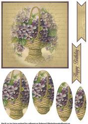 Vintage Flower Pyramage Topper 1