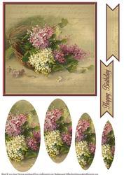 Vintage Flower Pyramage Topper 2