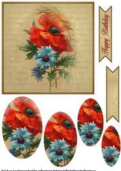 Vintage Flower Pyramage Topper 6